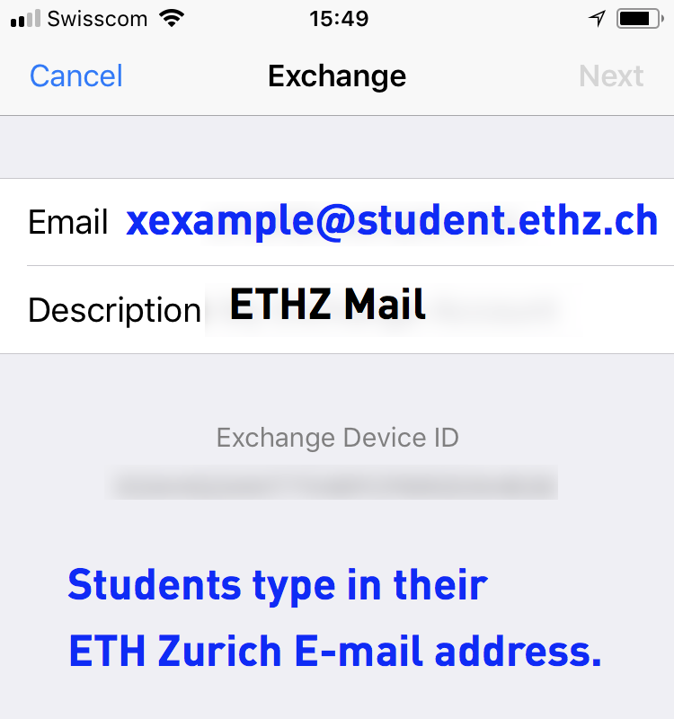 Email iOS – IT Services Group Department of Architecture